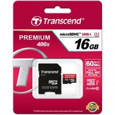 Transcend microSDHC 16GB Class 10 UHS-I 400x (Premium)