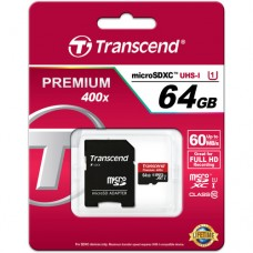 Transcend microSDXC 64GB Class 10 UHS-I 400x (Premium)